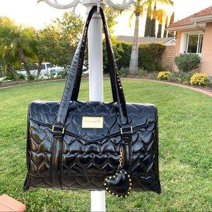 Betseyville by Betsey Johnson black duffle bag